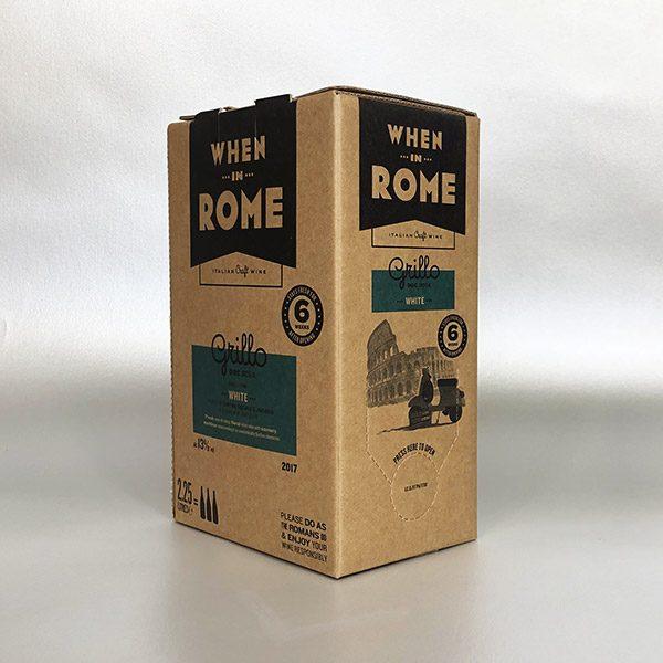 Grillo, Sicily, WHEN IN ROME. 3ltr Bag in Box Red Wine