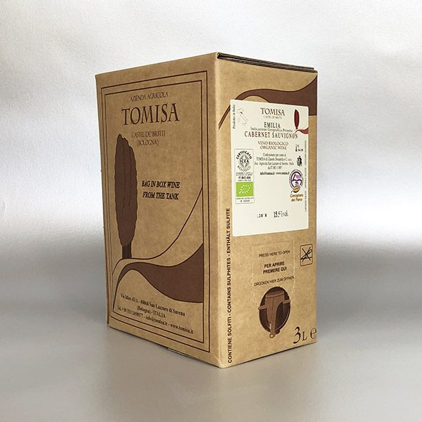 Cabernet Sauvignon - IGP Emilia - 3ltr Bag in Box - Red Wine
