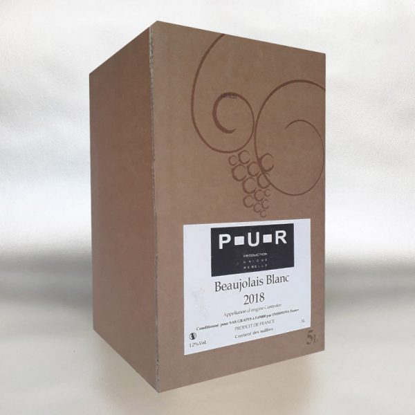 P-U-R Beaujolais Blanc - 5ltr Bag In Box Wine